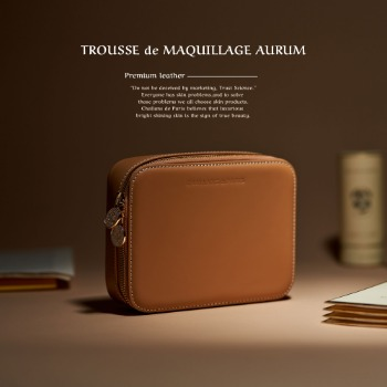 TROUSSE de MAQUILLAGE AURUM(가죽 클러치)